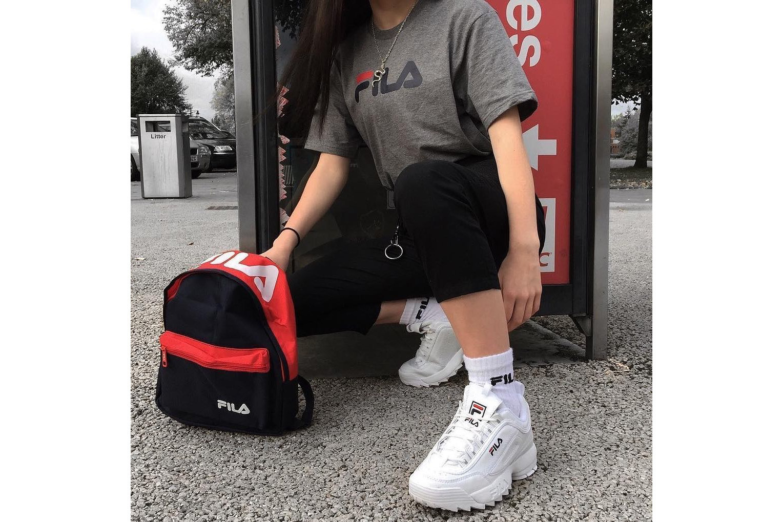 HYPEBAE Look Fila Fashion Outfit Guide Sporty Look Inspiration Get the Look  How to Style Retro
