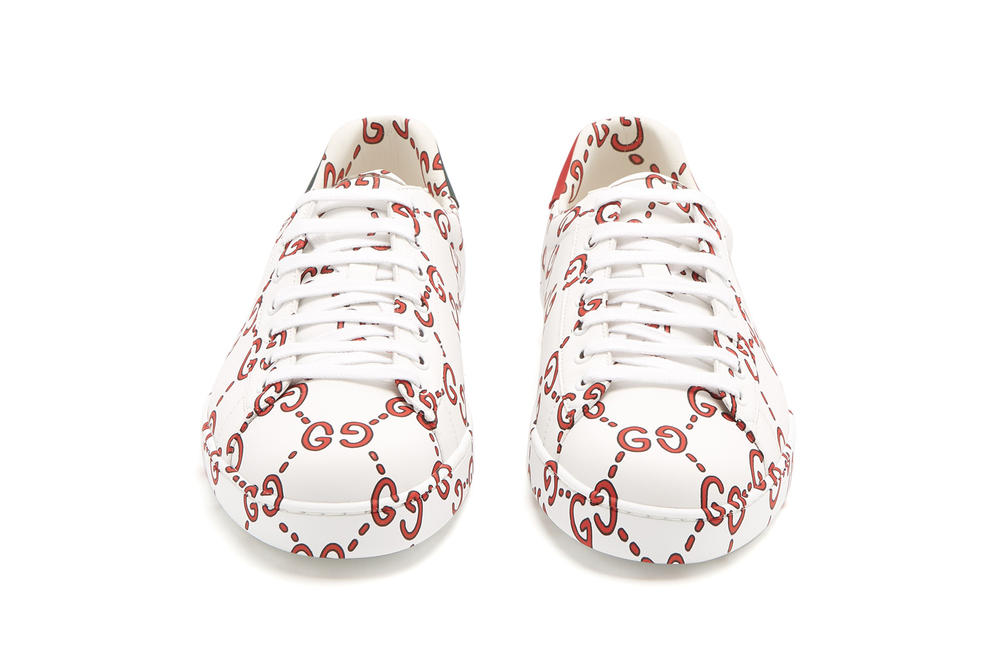 gucci monogram ace gg low top leather trainer sneaker