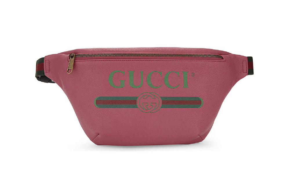 Gucci designer fanny pack belt bag retro pink green red logo