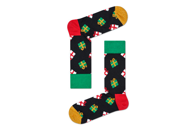 Happy Socks Holiday Collection Footwear Cute Christmas Theme Festive Red Green Blue Yelow luxury Socks Comfortable Hysteria by Happy Socks