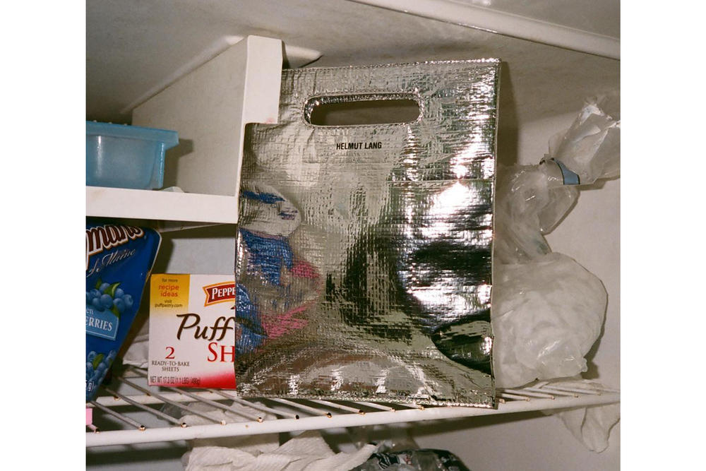 Helmut Lang Luxury Freezer Bag Available Now Silver Metallic