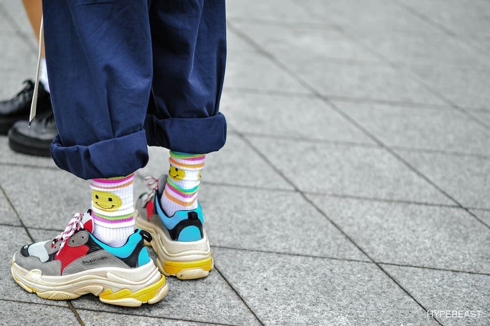 Balenciaga Triple-S Sneaker Runner Shoe Outfit Ideas Silhouette Popular Hype Fashion Inspiration