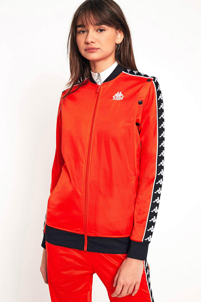 Kappa Removable Sleeve Popper Track Jacket Red