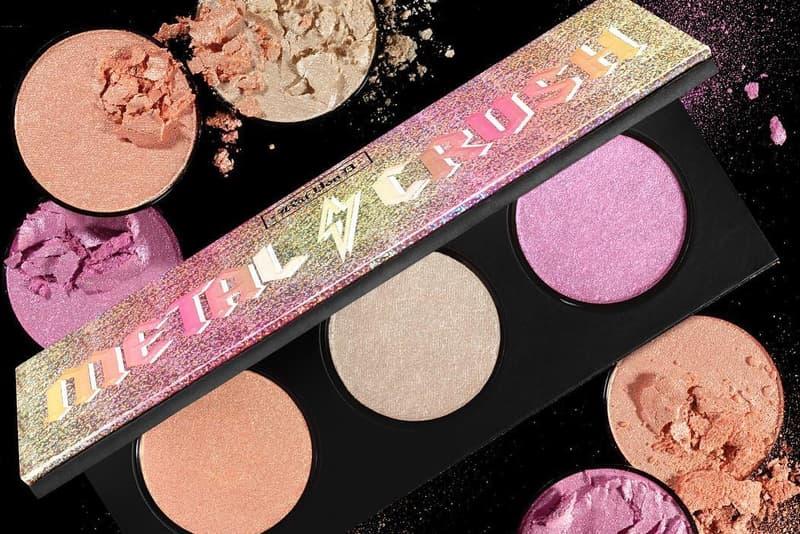 Kat Von D Metal Crush Highlighter Palette Makeup Beauty Rose Gold Metallic Shimmer Glitter Cosmetics Limited Edition Sephora