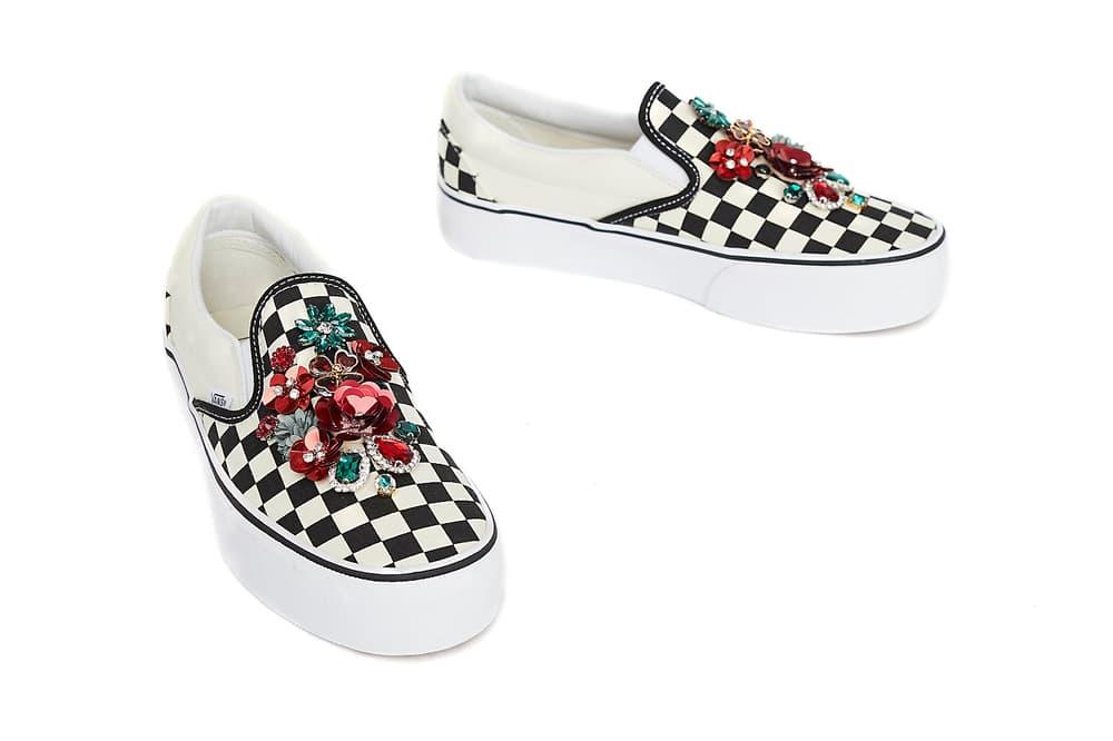 Lirika Matoshi Vans Slip On Checkerboard Gem embellished