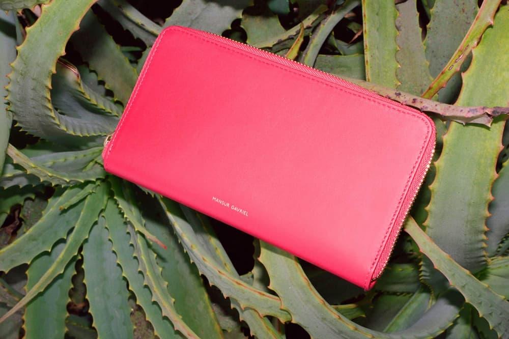 Mansur Gavriel Small Leather Wallet Cardholder
