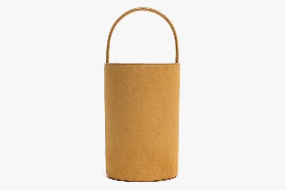 Marais USA Bucket Bag Mustard Navy Yellow Blue Suede