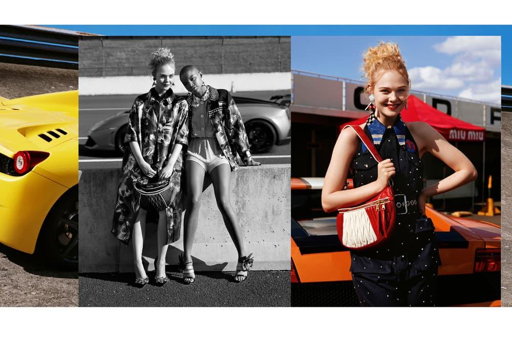 Miu Miu Croisiere 2018 Campaign Slick Woods Elle Fanning Joan Smalls Fashion Anna Ewers Doutzen Kroes