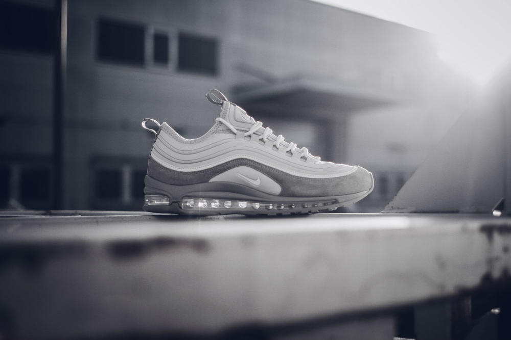 Nike Air Max 97 Pure Platinum Shoes Sneakers Footwear Silver Sparkle Shine Chrome Shoes