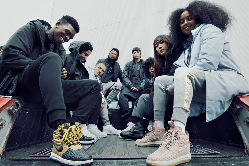 Nike Lunar Force 1 Duckboot Holiday 2017 Campaign Cecilia Yeung High Jumper Air Vapormax Women