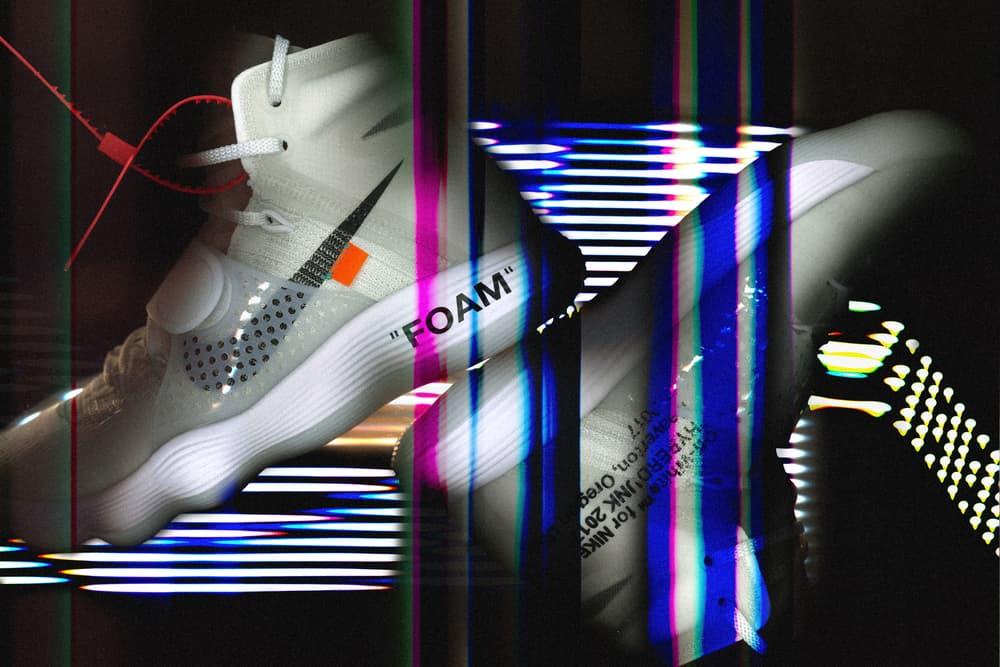 Virgil Abloh Nike The Tens HBX Exclusive HBX Editorial Air Force 1 Air Jordan 1 Vapor Max Blazer Mid Air Max 90 Presto Foam