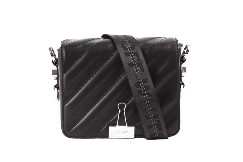 Off-White Virgil Abloh Paper Clip Bag Four New Colorways Blue Black Beige Industrial Strap