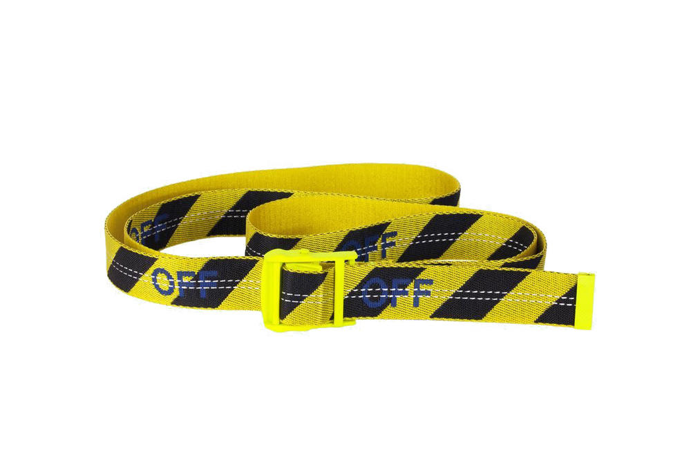f3878e58ed06 Off-White Virgil Abloh Industrial Belt Yellow Blue Orange White Black  Rubber Translucent Pre Order