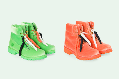 1adcc2f6db9c These Off-White™ x Timberland Boots Are Covered in Velour
