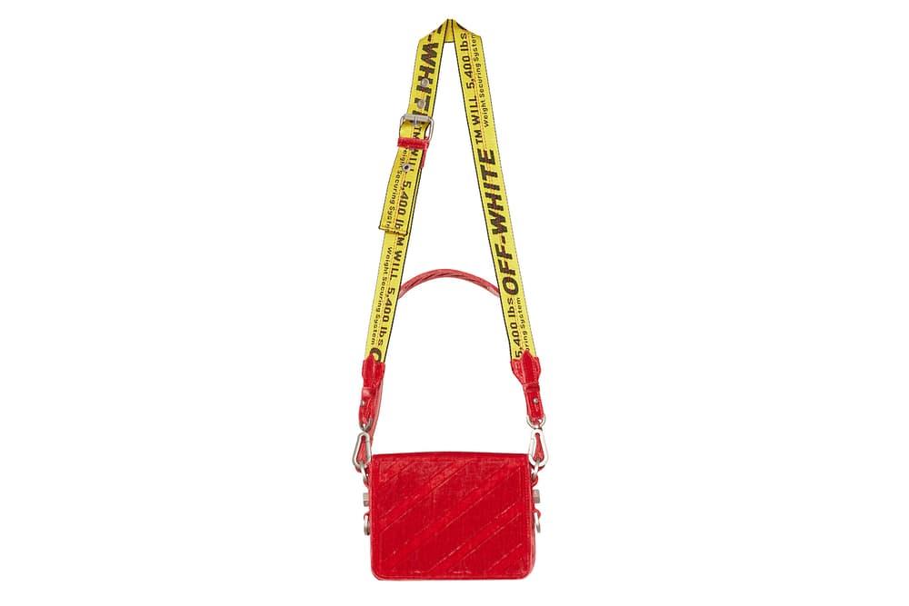 Off-White Velvet Flap Bag Red Purple Burgundy Virgil Abloh KM20