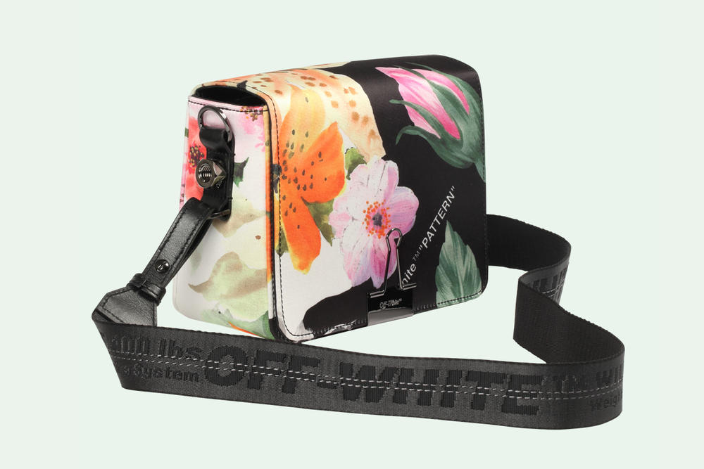 Off-Whit Floral Binder Clip Bag Mini Virgil Abloh Spring Summer 2018