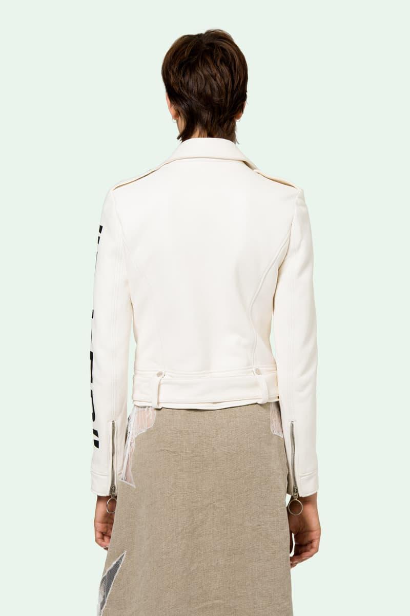 off white virgil abloh leather biker jackets black white