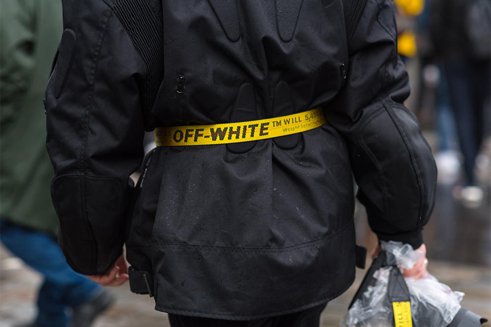 713d8ee68d2 Off-White Industrial Belt Outfit Look Inspiration Clothes Fashion Yellow  Virgil Abloh Fashion One Item