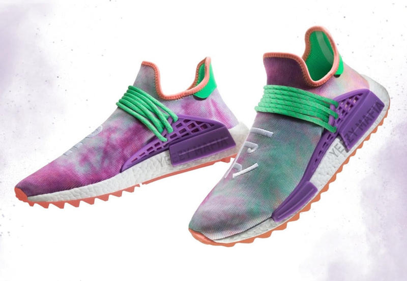 Pharrell Williams adidas Originals Hu Trail Holi Pack NMD Colorful Hindu Festival of Color Silhouette Shoe Release