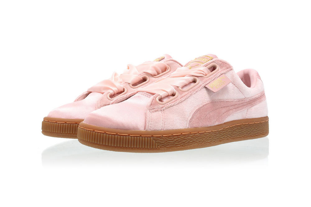 PUMA Basket Heart VS Silver Pink Gold