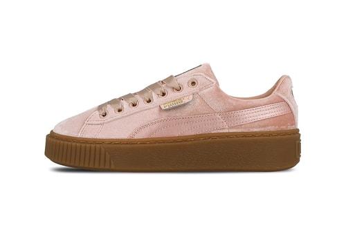 0bfa08007fa PUMA s Latest Basket Platform Is a Pink Velvet Dream