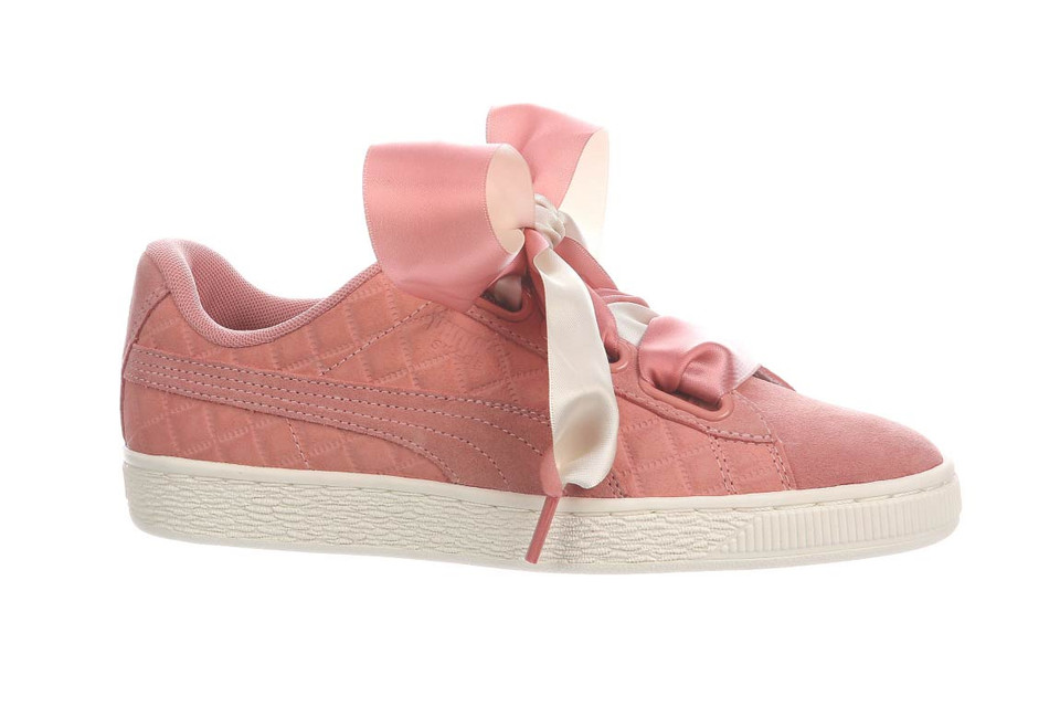 f3f310a12b0 PUMA s Pink Suede Heart Quilted Is the Perfect Winter Low-Top