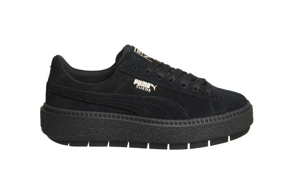 dfb0abc1f163 Puma Suede Platform Trace Sneakers Black Olive White Beige
