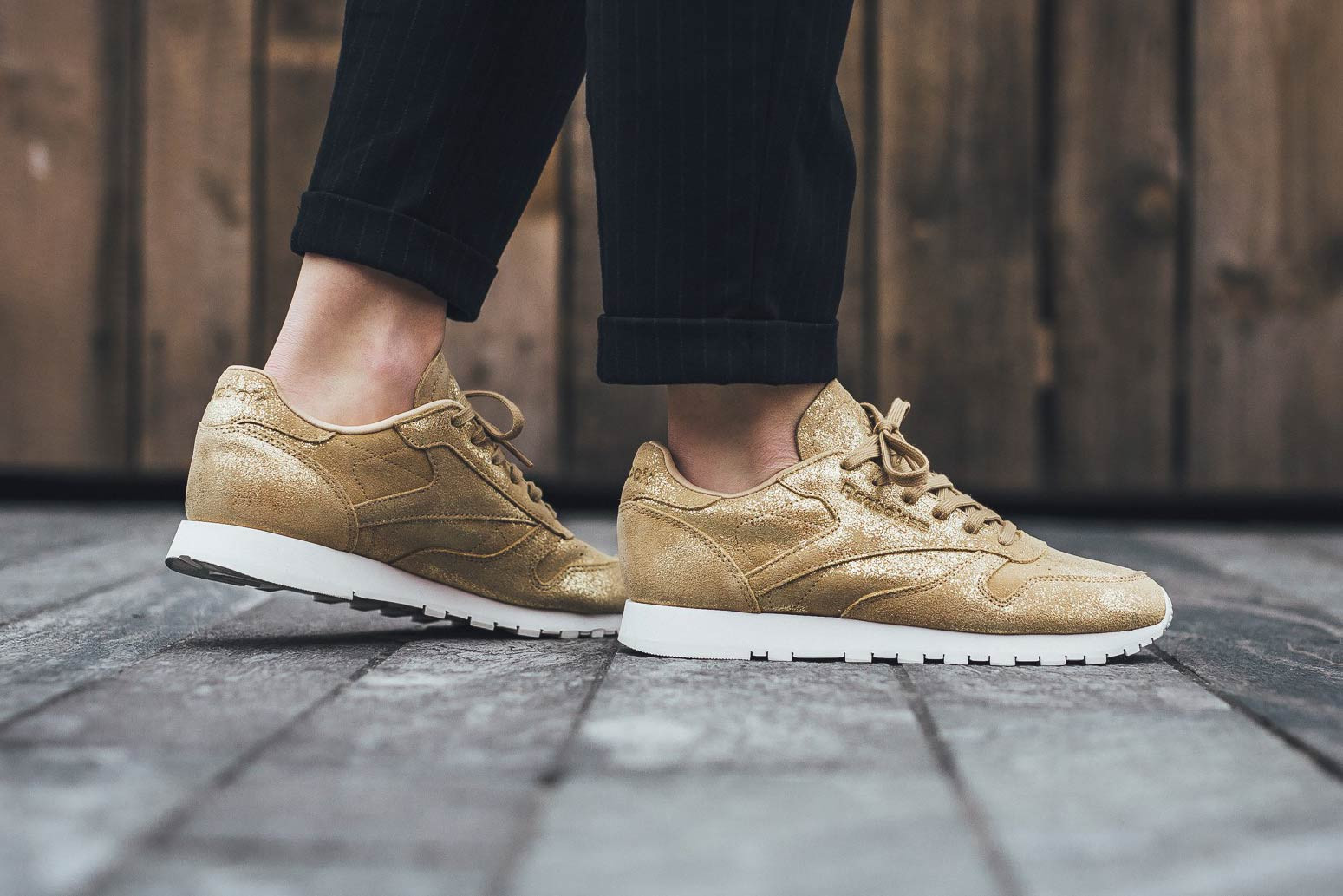 Reebok Classic Leather Shimmer in Gold