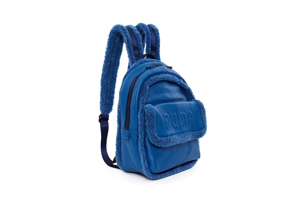 Rihanna Fenty PUMA Mini Sherpa Backpack Bright Cobalt Blue