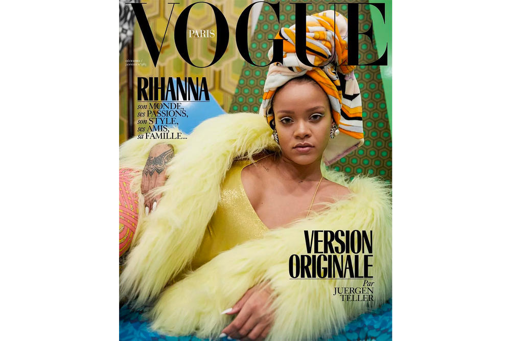 Rihanna Vogue Pairs Christmas Issue Covers Dior Juergen Teller