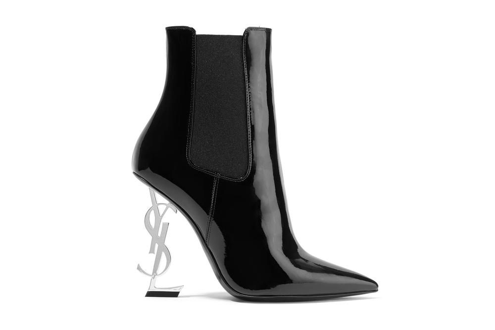 1bf28cd2a8 Saint Laurent's Ankle Boots Has a YSL Heel | HYPEBAE