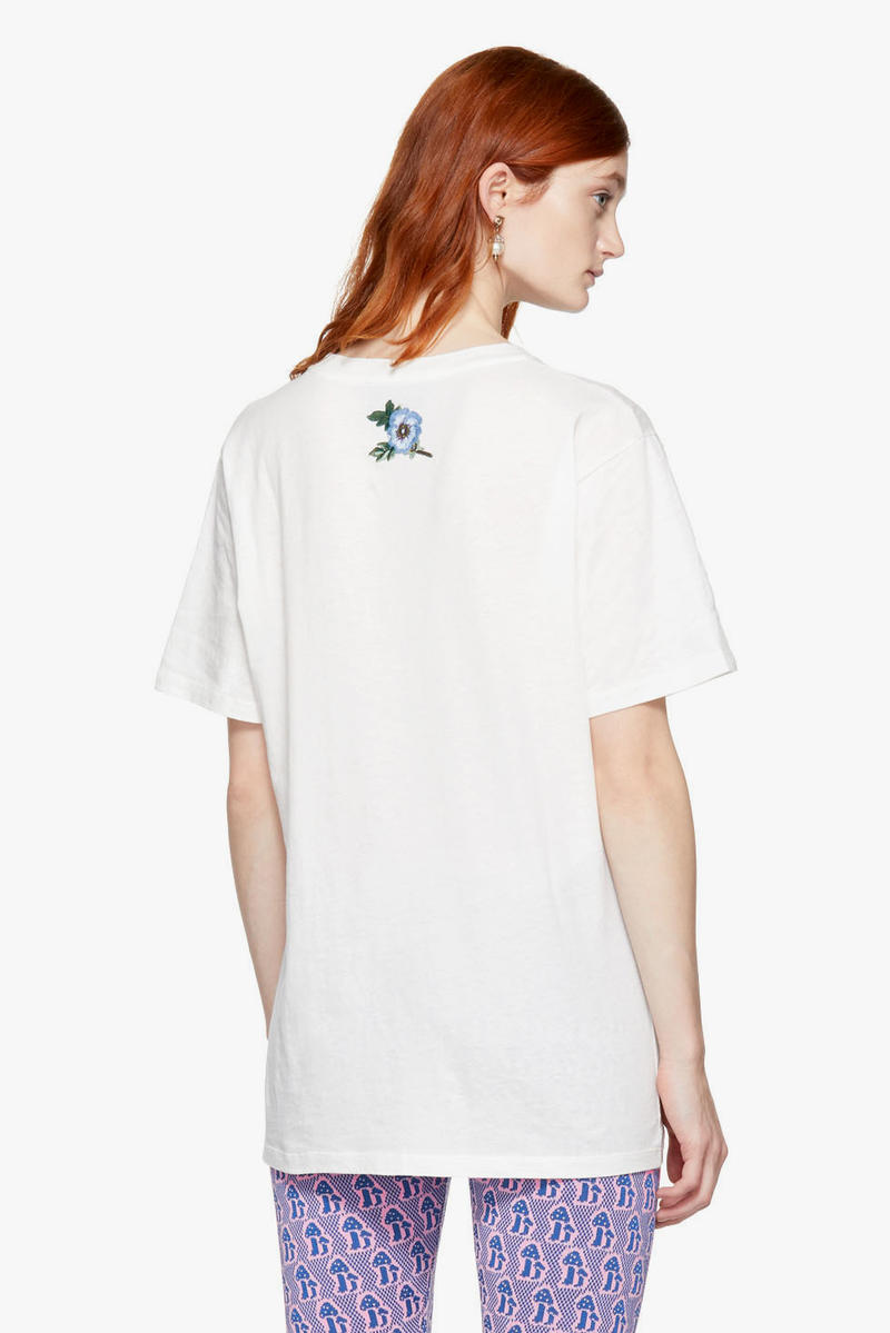 Gucci Iconic Logo Sweater T-Shirt White Orange Retro Print Floral Embroidery SSENSE Bold