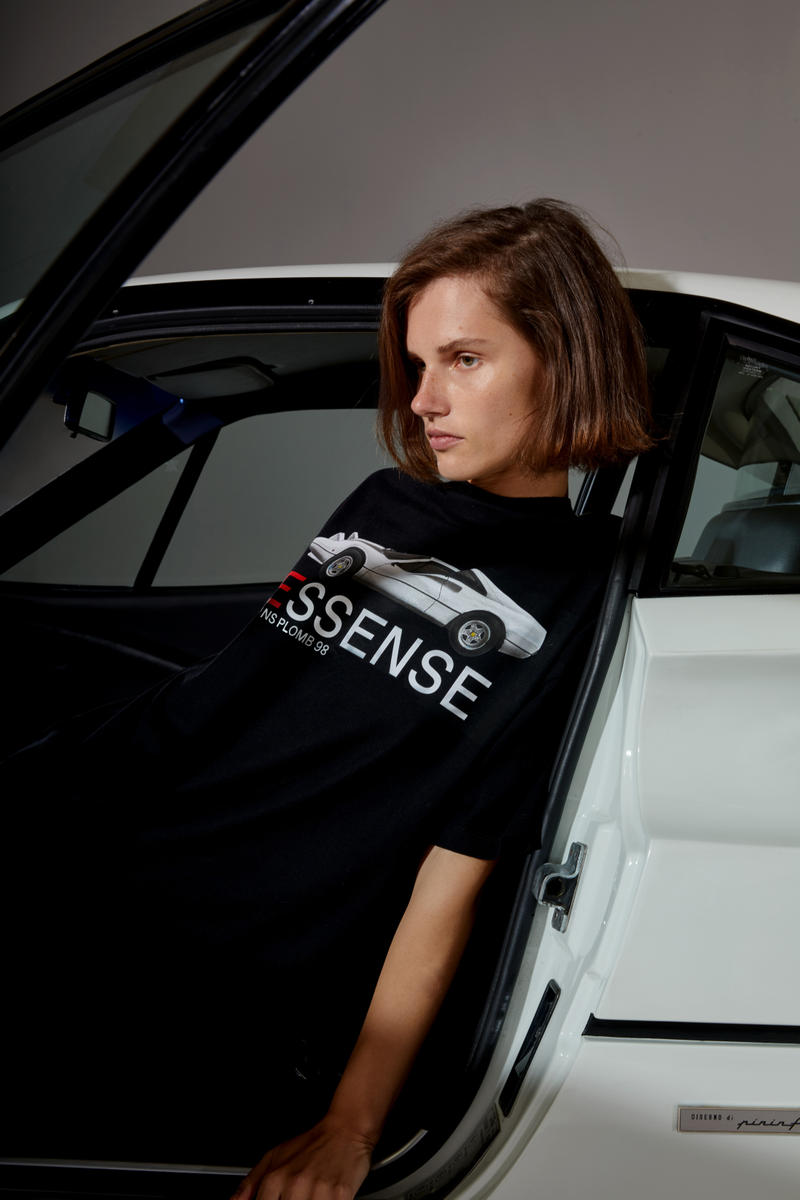 SSENSE L'ART DE L'AUTOMOBILE Exclusive Capsule Collection Car Ferrari Limited Edition T-shirt