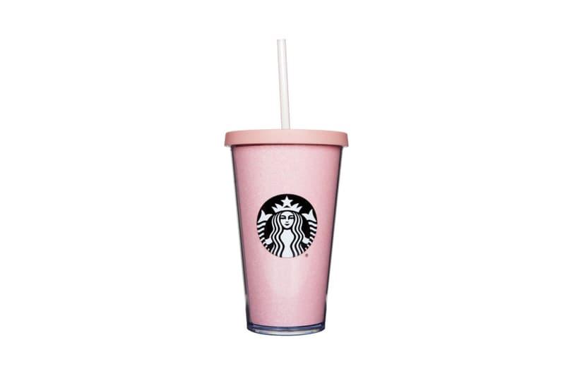 Starbucks Tumbler Cup Pink Rose Gold Glitter Sequin