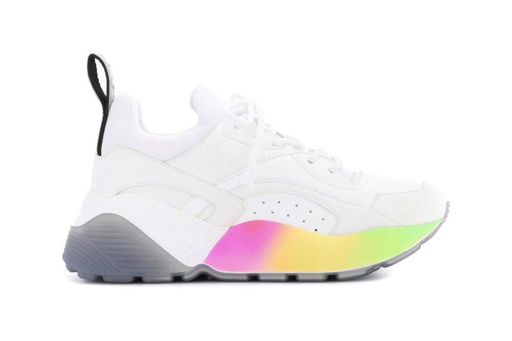 Stella McCartney eclypse chunky sneaker vegan rainbow sole