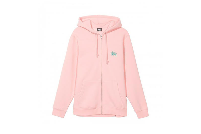 Stussy Checkers Basic Zip Hoodie Dusty Rose