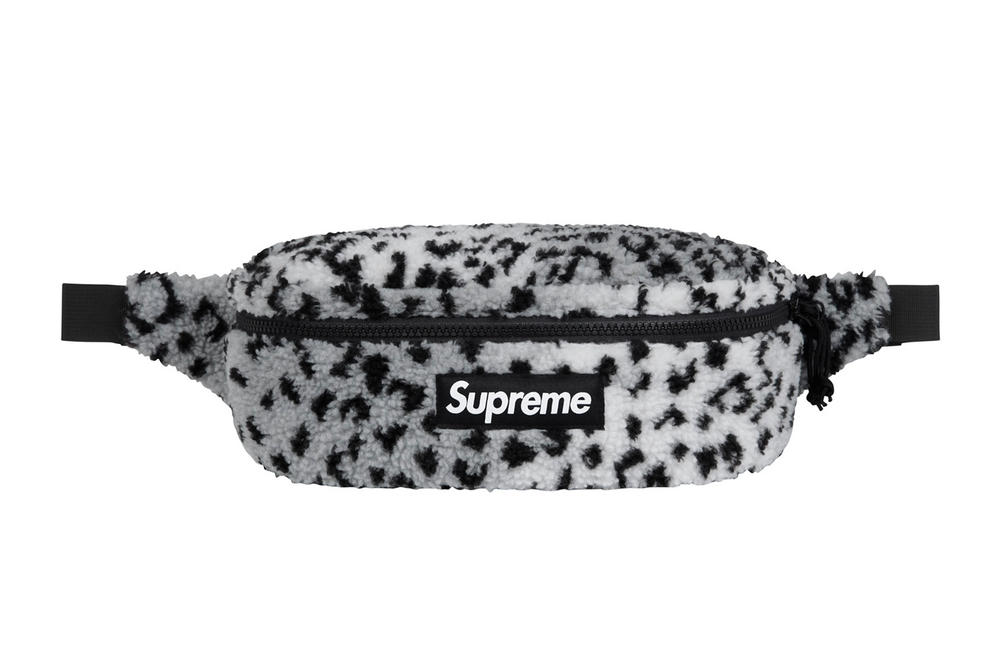 Supreme's Leopard Fleece Backpack and Waist Bag | HYPEBAE