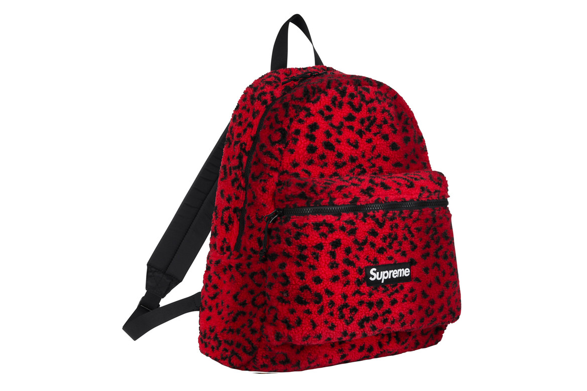 Supreme's Leopard Fleece Backpack And Waist Bag | HYPEBAE