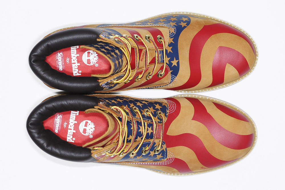 Supreme timberland 6 inch boot collab stars and stripes ari marcopoulos