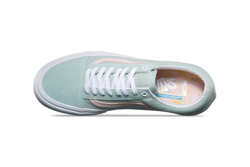 Vans Old Skool Pro Danlu Harbor Gray Pearl Mint Pink