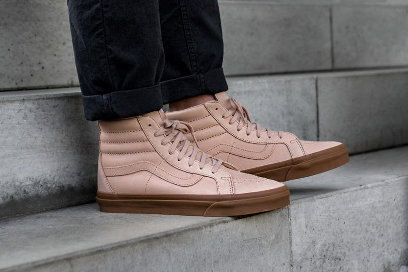 Vans Sk8 Hi Reissue DX Old Skool Veggie Tan Nude Leather 22417b393