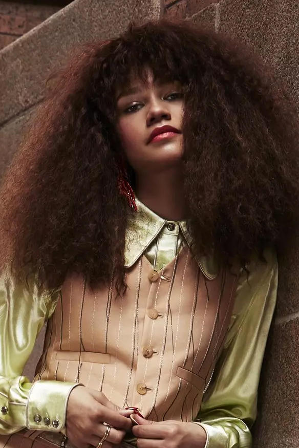 Zendaya InStyle Magazine Cover Interview Feature Shoot Fashion Line Gender-Neutral Clothing