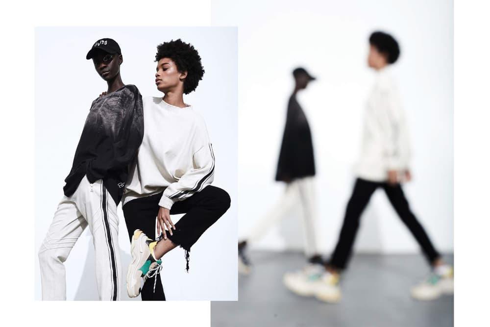 Balenciaga VizuvlGvds Fashion Editorial Monochrome Form Movement Choreography Zack Zannini Steve Wdowik