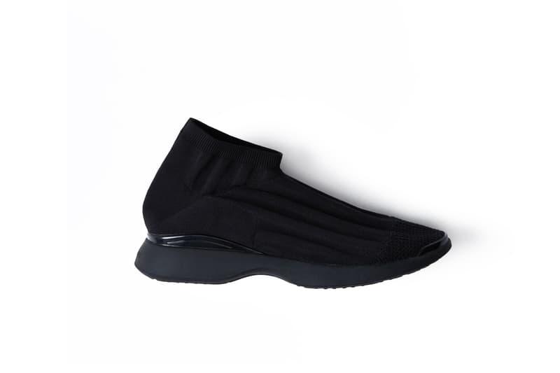Acne Studios Batilda Sock Sneakers Black White Gold Silhouette Balenciaga Runners Futuristic Simple Minimal Shoe