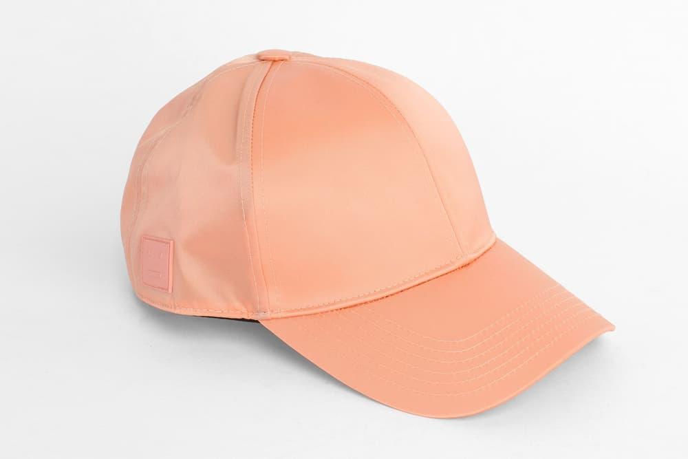 Acne Studios Camp Face Cap Pale Pink Coral Pastel Millennial Hat