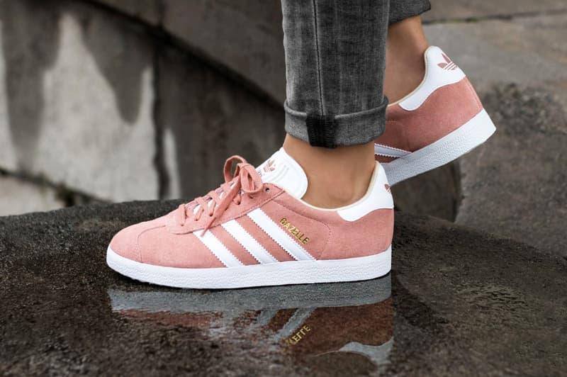 0f047c6a30319 adidas Originals Gazelle Ash Pearl Pink Pastel Linen White