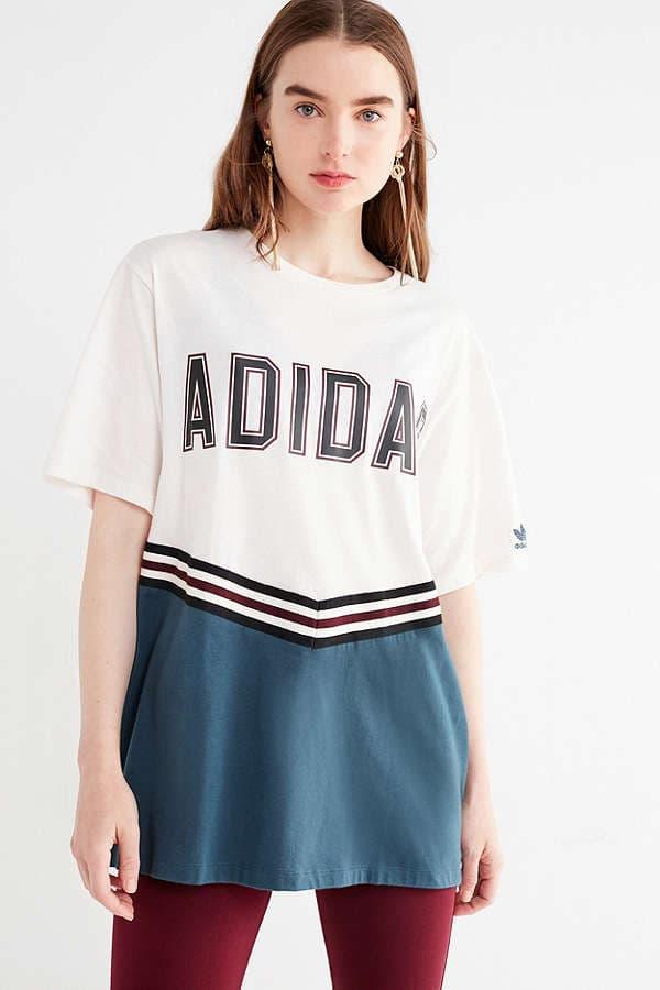 adidas Originals Adibreak Colorblock Tee Varsity Cheerleader Urban Outfitters Logo
