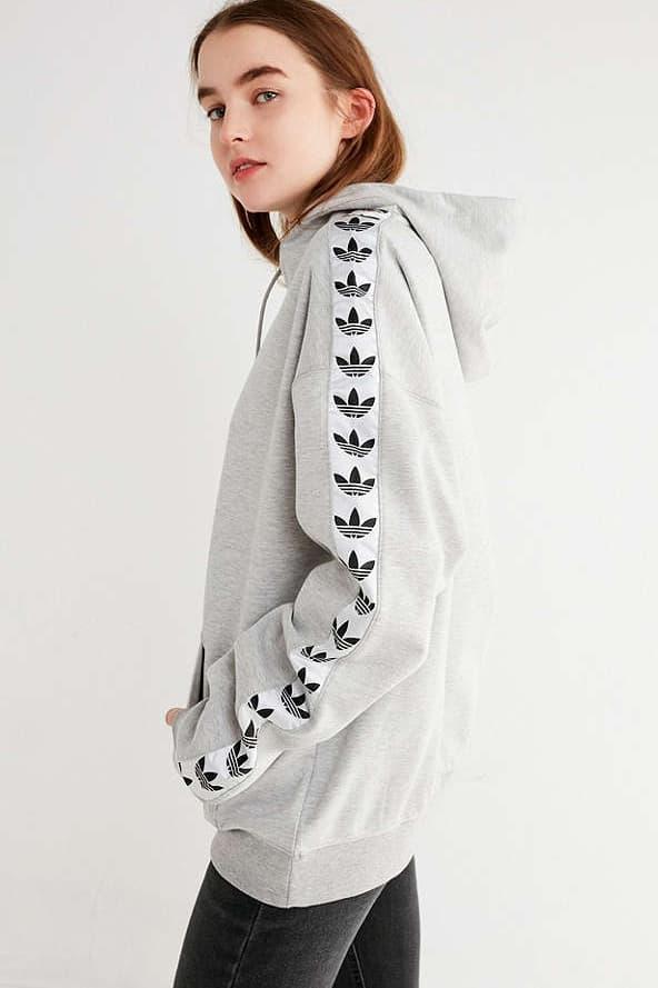 adidas Originals Logo Taped Hoodie Sweater Sweatshirt Urban Outfitters Trefoil Three Stripes Women