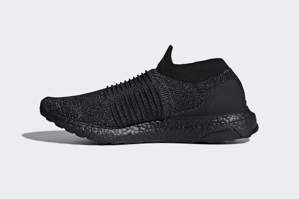 adidas ultraboost laceless triple black january 2018 release