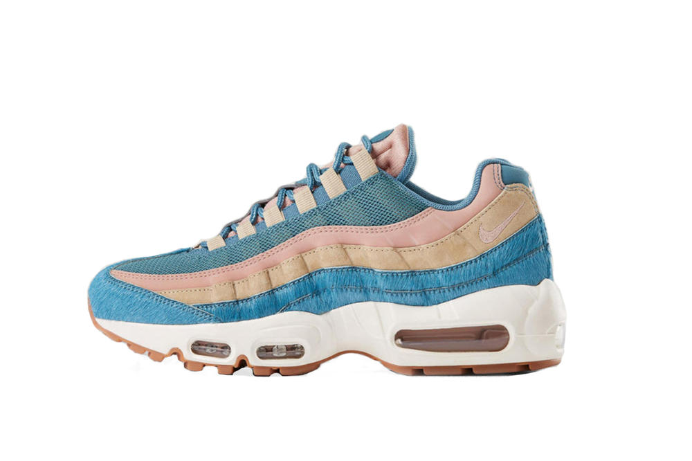 best sneakers 27d35 fcbaf Nike Air Max 95 Rainbow Pony Hair Makeover Shoe Sneaker Silhouette Colorful  Retro Timeless Classic